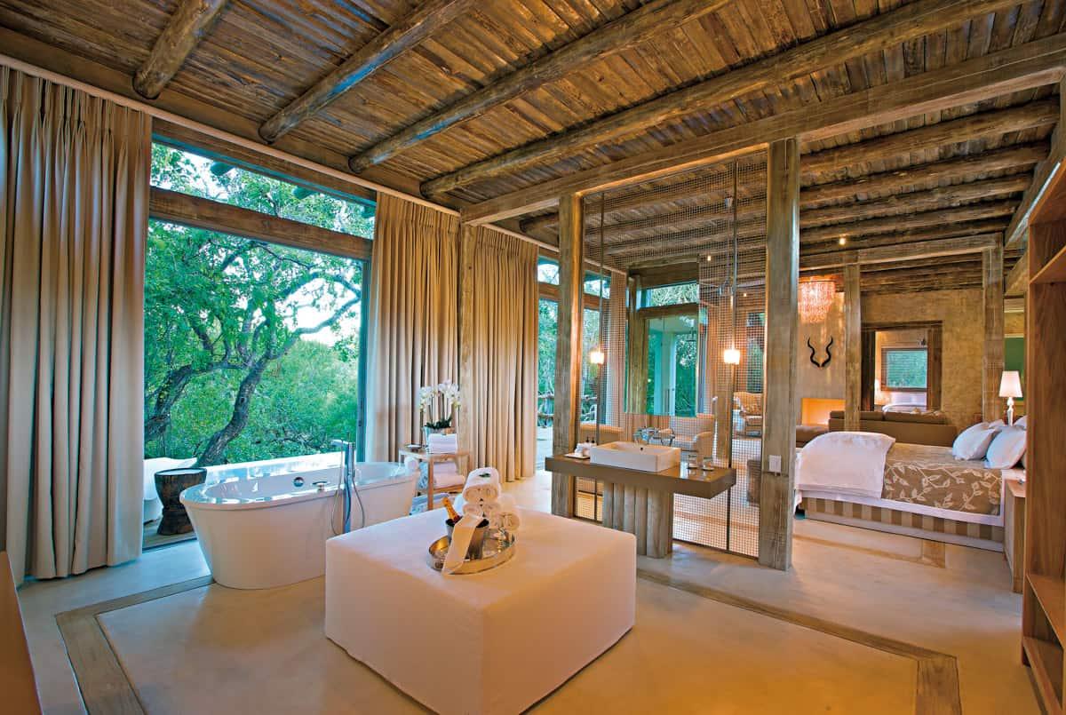 Karula Superior Luxury Family Villa main bedroom bush view